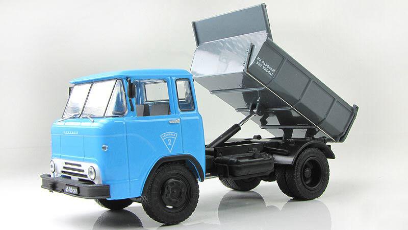 1 43 KAZ-608 kolhida Diecast camion benne (Garage)  Limited Edition