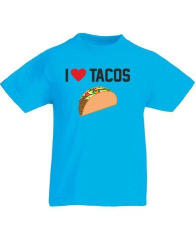 Kids Printed T-Shirt I Love Tacos