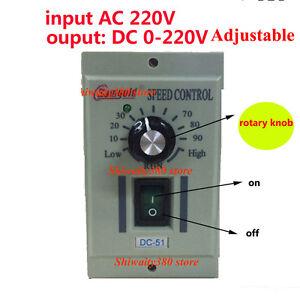 4000W AC220V 1-phasig Motor Drehzahlregler Motorregler Speed Controller Governor