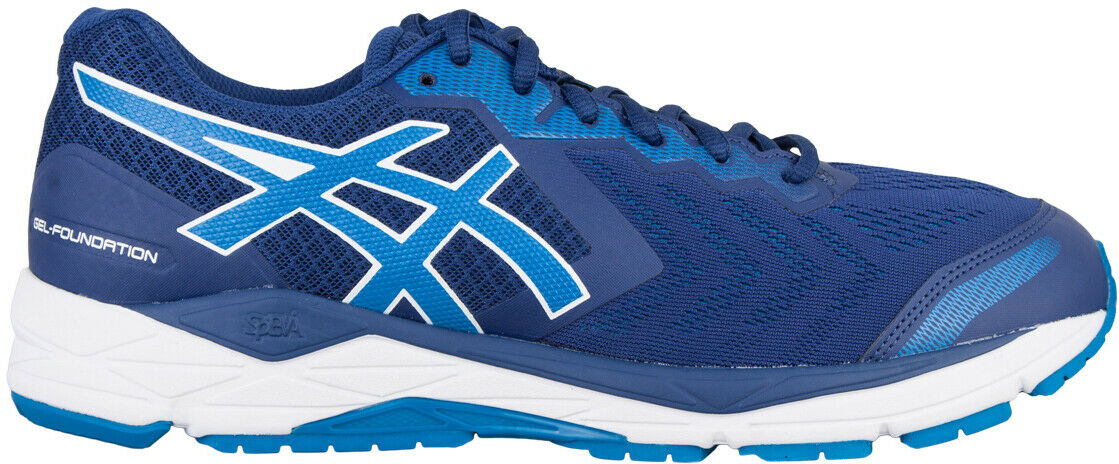 Asics Gel Foundation 13 WIDE FIT (2E) Mens Running schuhe - Blau