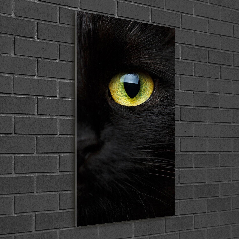Wand-Bild Kunstdruck aus Hart-Glas Hochformat 50x100 Katzenaugen