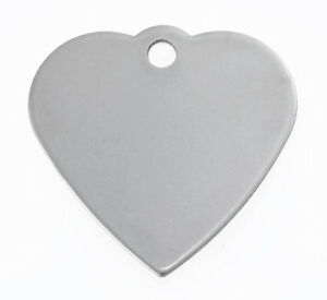 Engraved Pet Id Tag Heart Stainless Steel Fast Shipping Ebay