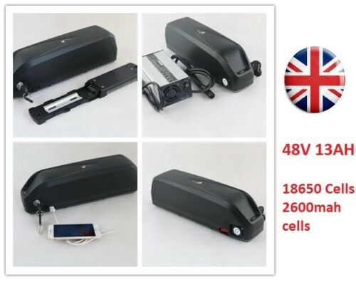 48v 13ah Lithium battery with 2A charger Hailong case downtube for E bike 1000W