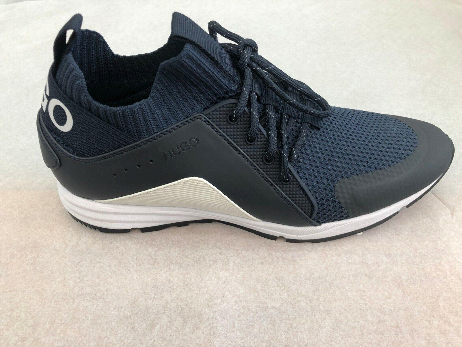 BOSS HUGO BOSS Men's Sneakers Hybrid Runn Knmx In 401 Dk bluee