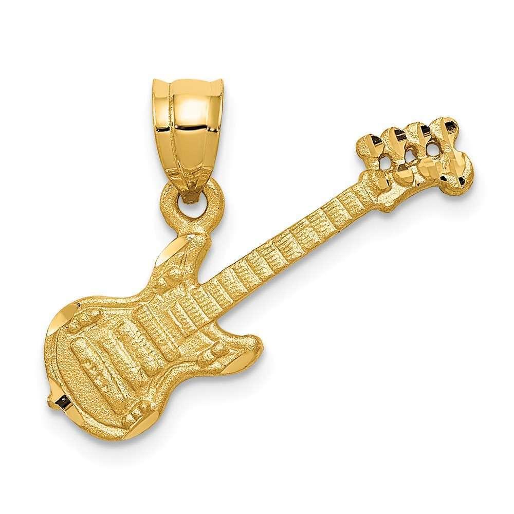 14K Yellow gold Guitar Pendant C413