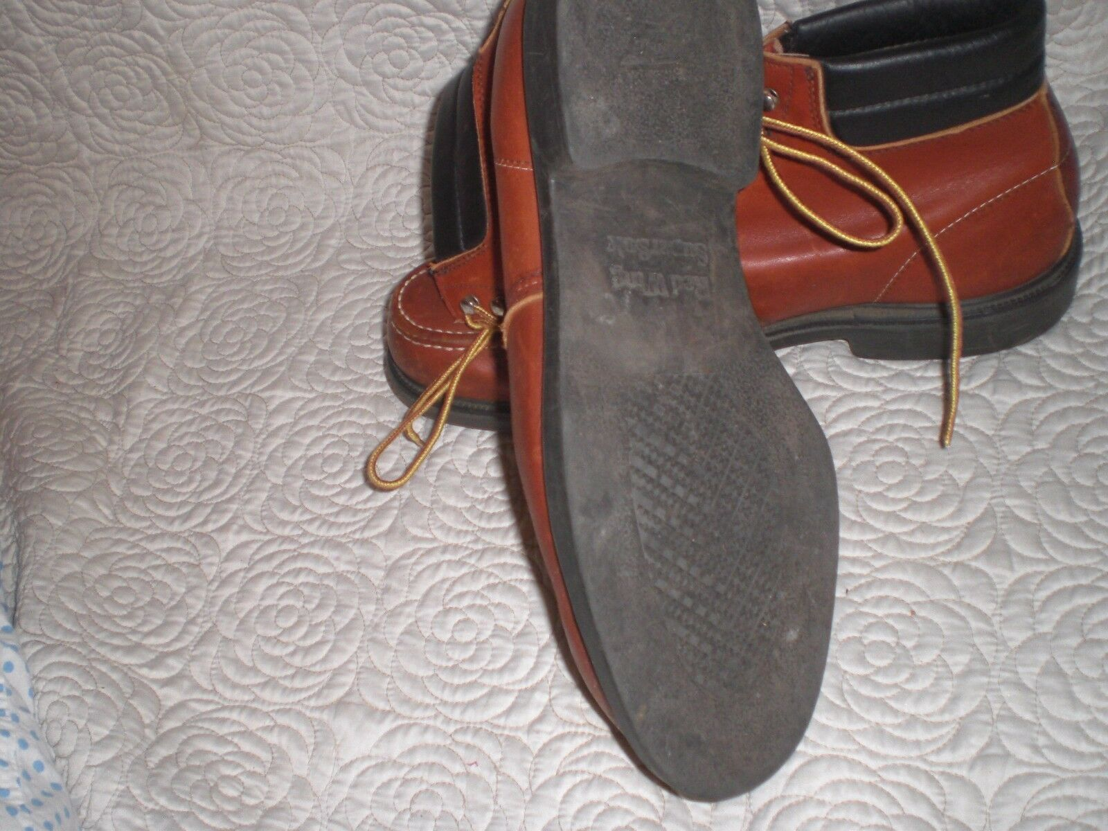 Rosso Leather Wing  1905 Brown Leather Rosso boots SIZE 15 B f62afe
