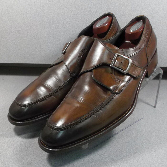 243086 PFi60 Chaussures Hommes Taille 10 M marron en cuir MADE IN ITALY Johnston & Murphy