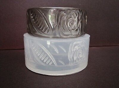 CLEAR SILICONE MOLD, (MB060) STAMPING ROSES BANGLE BRACELET