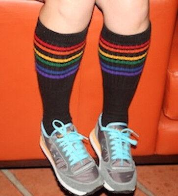 Pride Socks HOT Rainbow Striped Tube Socks- Hip Hop! B4-19