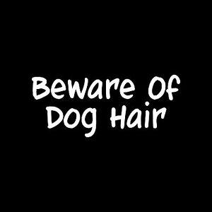BEWARE-OF-DOG-HAIR-Sticker-Cute-Vinyl-car-truck-window-Decal-funny-Pet-gift-love