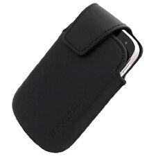 NEW OEM Blackberry BOLD 9900 BK Leather Pouch w Holster Swivel Clip HDW-38842001