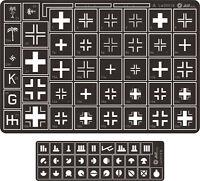 Alliance Model Works 1:35 Stencil German Balkenkreuz Cross Kursk Lw35019 on Sale