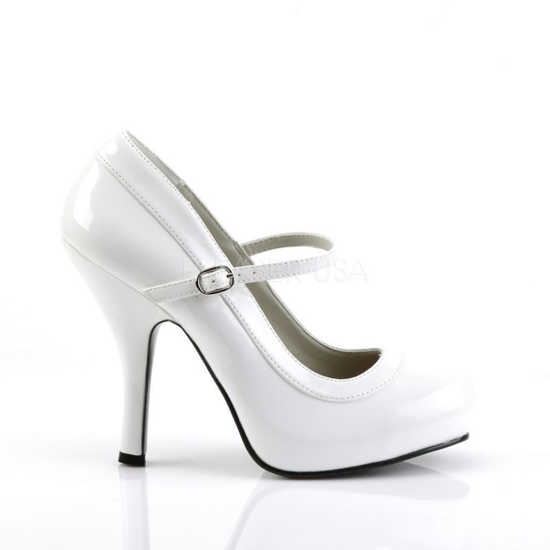 Funtasma Plateau Plateau Funtasma Pumps PRETTY-50 Weiss Lack f48a85