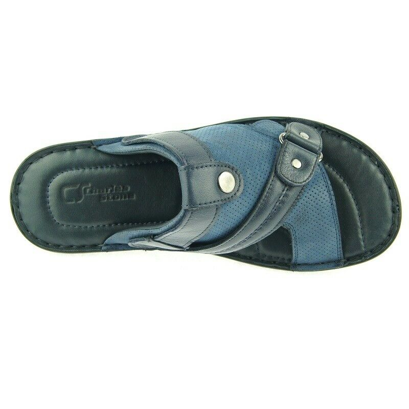 49667a7b840 ... Charles Stone Genuine Leather Men s Men s Men s Slingback Slide Sandals