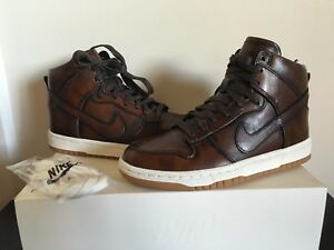 new product 8aed7 59457 Image is loading Nike-Dunk-Lux-Burnished-SP-Classic-Brown-747138-