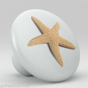 STARFISH Beach Ceramic Knobs Pulls Kitchen Drawer Cabinet ...