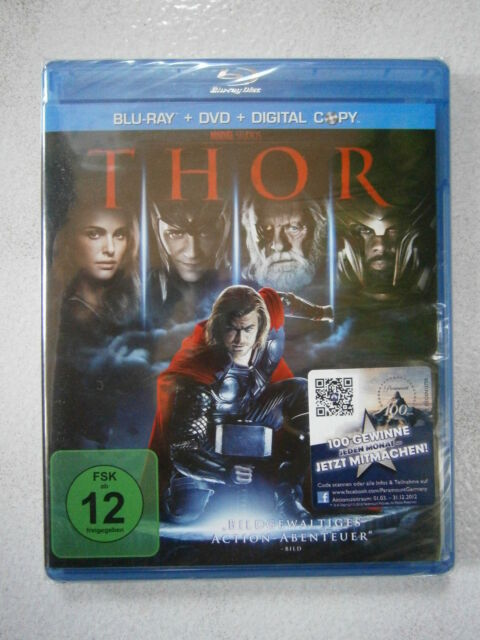 "Bluray + DVD + Digital Copy ""THOR"" Chris Hemsworth, Anthony Hopkins - NEU!"