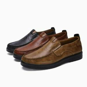 Men-Leather-Shoes-Oxfords-Soft-Moccasins-Slip-On-Casual-Driving-Antislip-Loafers