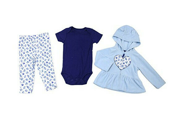 NWT Carter/'s sz 9 12 18 M Baby Girls/' 3-Piece Little Snuggle Bunny Set