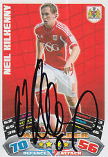 BRISTOL CITY HAND SIGNED NEIL KILKENNY 11/12 MATCH ATTAX CARD.