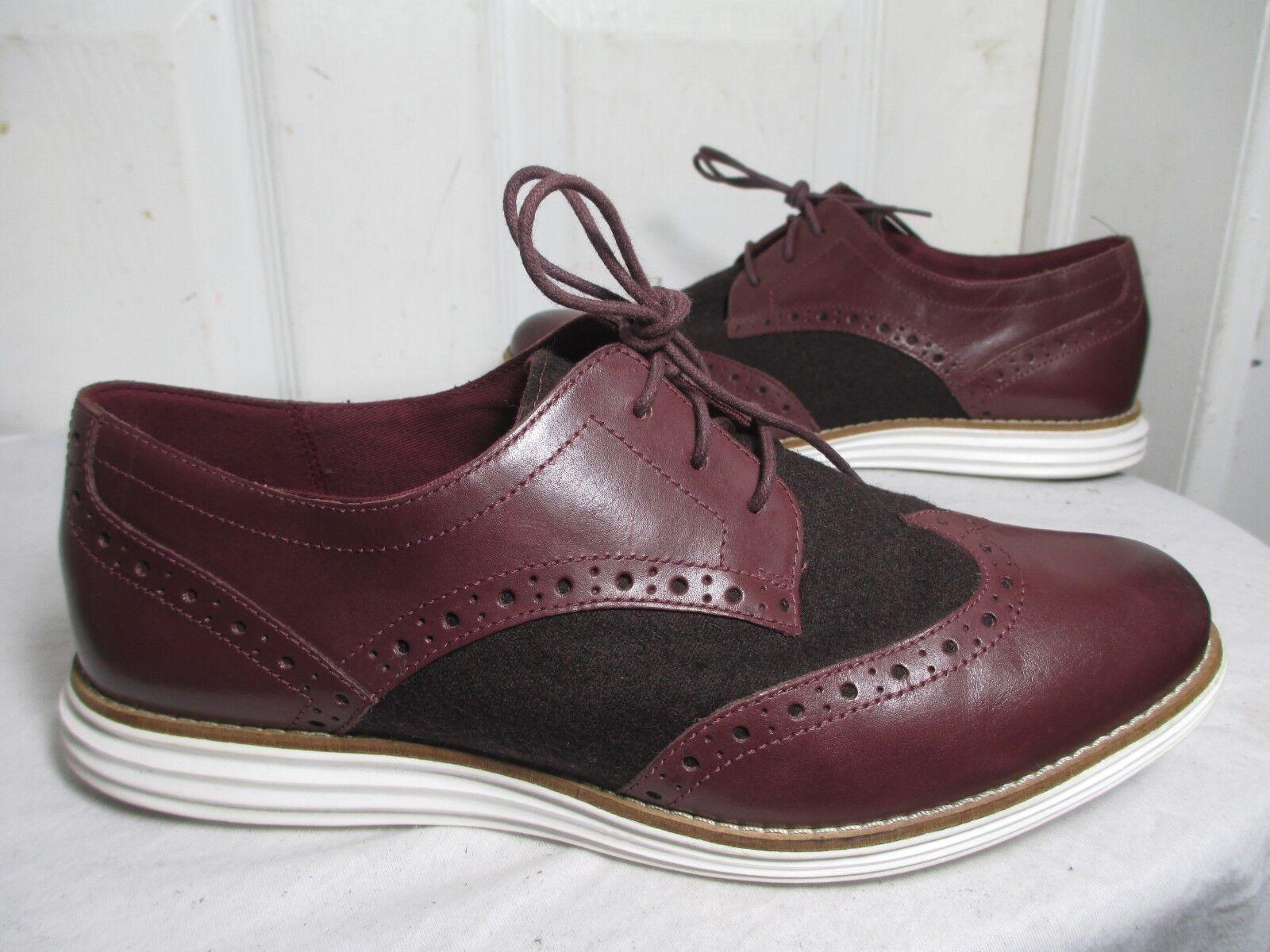 negozi al dettaglio COLE HAAN GRAND OS BURGUNDY LEATHER WOOL WINGTIP WINGTIP WINGTIP OXFORD scarpe 8 B  design semplice e generoso