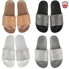 2218e7484e1 item 1 Womens Ladies Slip On Sliders Flat Diamante Sandals Rubber Mule  Comfy Shoes Size -Womens Ladies Slip On Sliders Flat Diamante Sandals  Rubber Mule ...