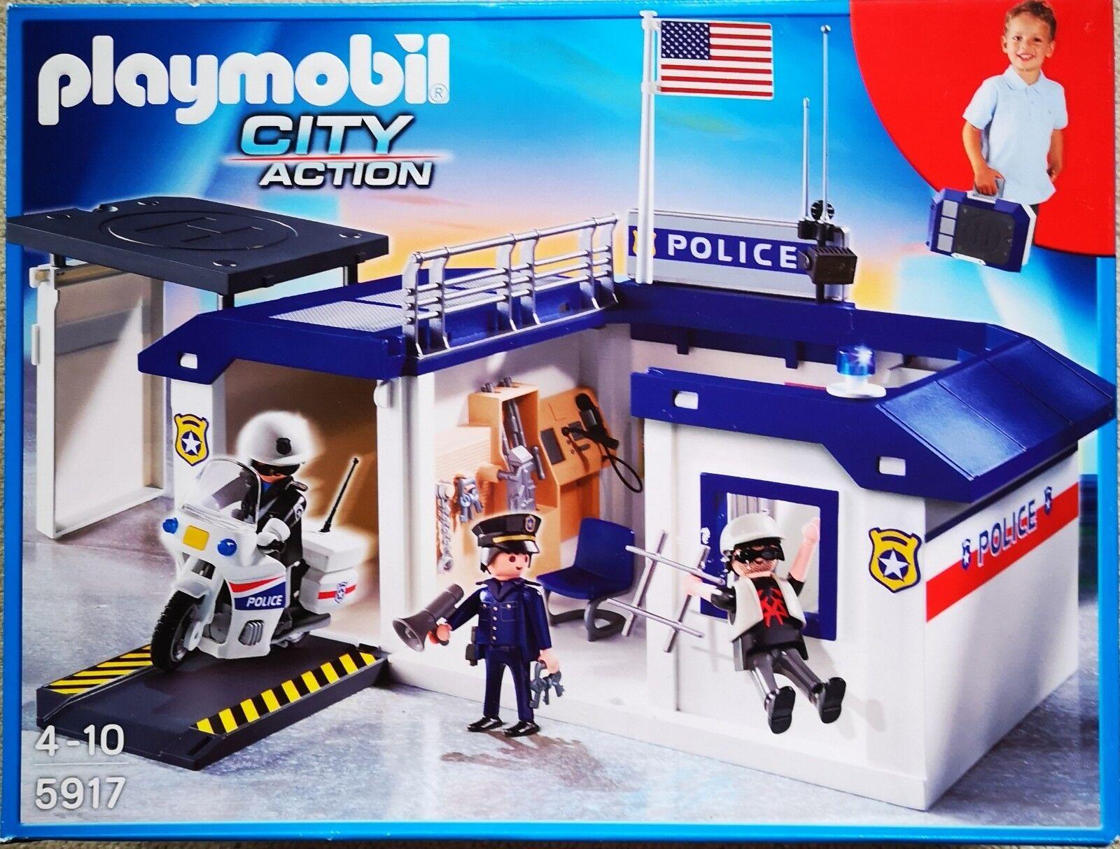Playmobil 5917 Polizeistation zum Mitnehmen - Neu & OVP  | Glücklicher Startpunkt