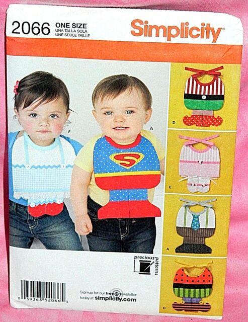 uncut simplicity baby bib costumes pattern 2066 halloween superman ballerina elf