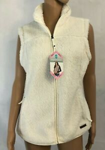 Free-Country-Plush-Womens-Fleece-Vest-Size-S-Small-Cream-White-NEW-MSRP-70