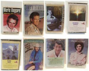 Lot Of 8 Cassette Tapes Country MERLE RANDY (2)  ALAN GEORGE (2) DEAN CRISTY