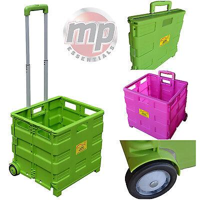 Sunleisure Heavy Duty Pack & Go Pieghevole Portatile Trolley Shopping Trasporto Box-