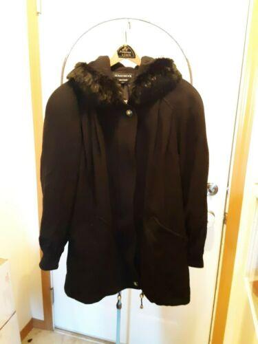 Vintage womens DonnyBrook wool black wool coat siz