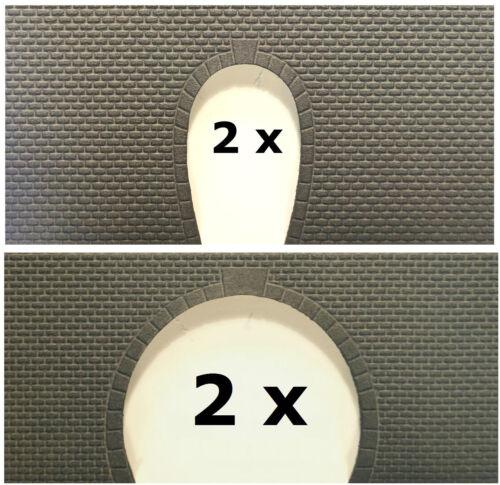 1-gleisig oder 2-gleisig Jordan N: Tunnelportal - NEU 2 Stück 916, 917