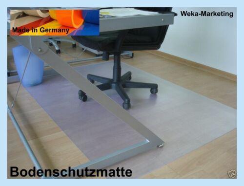 Bodenschutzmatte PVC 150 cm x 120 cm helltransparent