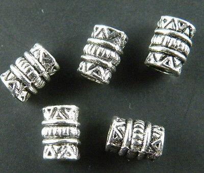 200pcs Tibetan Silver Tube Spacers 7x5mm 506