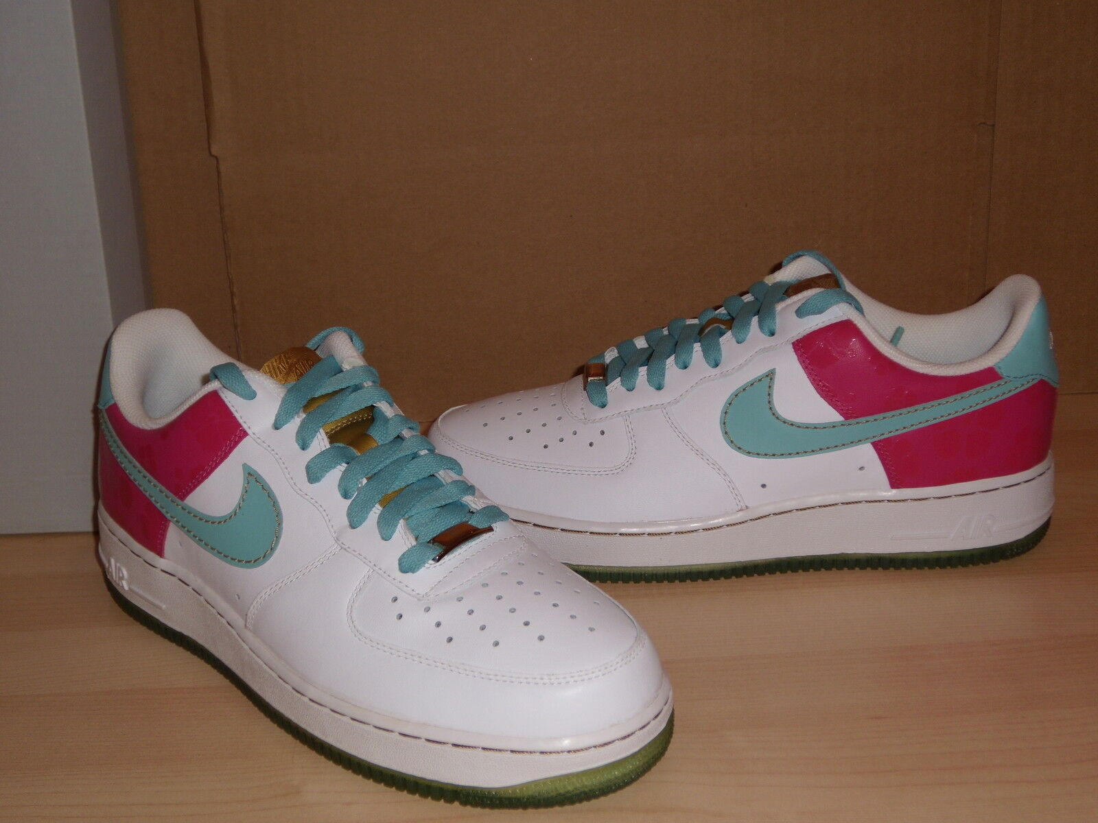 Air Force 1 07 Low So Cal Edition White Aqua Mens Shoes NIB Size 9.5
