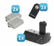 Minadax Batteriegriff für Canon EOS 500D ersetzt BG-E5 + 2x Akku LP-E5 + 1x IR