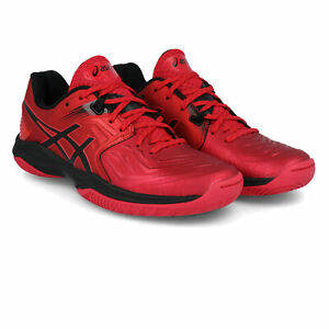 Asics-Homme-Blast-FF-Indoor-Cour-Chaussures-De-Sport-Rouge-Squash-Badminton-Respirant