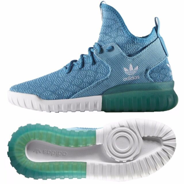 7fac948416c2 ADIDAS ORIGINALS TUBULAR PRIMEKNIT MENS SHOES SIZE US 10 UK 9.5 AQUA BLUE  B25592
