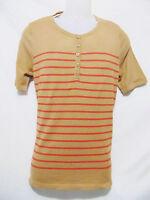 Jones York Womens Knit Top/light Sweater,camel/lava,short Sleeve,new,$49