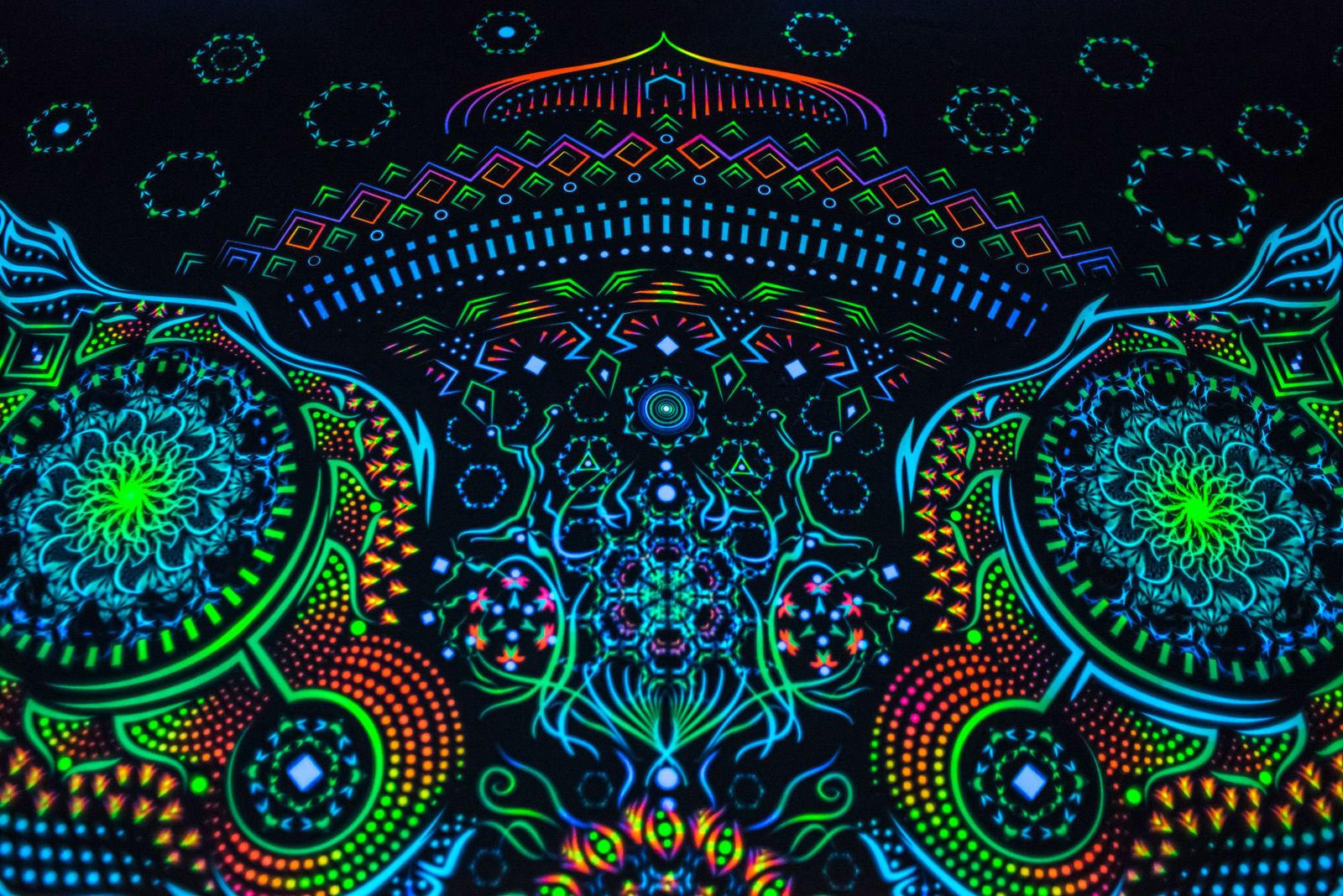 Sfondo UV Fluorescenti Bagliore arazzo arazzo arazzo stendardo ARTE Psichedelica Psy Muro Appeso 124bb0