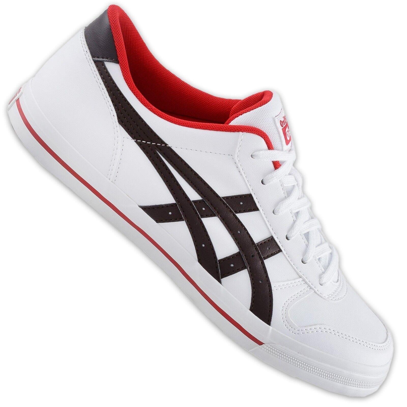 Asics Onitsuka Tiger aaron señora zapatos freizeitsneaker Weiss marrón rojo 38 39