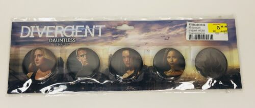 2013 New SEALED Divergent Dauntless 5 Pin//BUTTONS Set FROM NECA