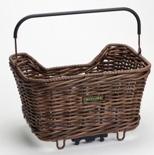 Racktime System cesta para bicicleta cesto Baskit Willow marrón snap it adaptador de plástico