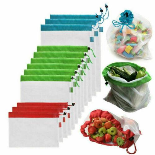 Wiederverwendbare Einkauftasche Meshtaschen Obst und Gemüsebeutel Aufbewahrung