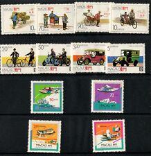 China Macau Macao Sc# 555-558 568-571 600-603 1987 1988 1989 Transport Stamps