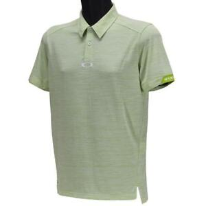 Oakley Gravity Polo Mens Size L Large Lime Green Casual Golf Collared Tee Shirt
