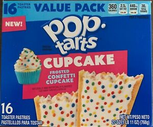 NEW-KELLOGGS-POP-TARTS-CUPCAKE-FROSTED-CONFETTI-27-OZ-BOX-16-TOASTER-PASTRIES