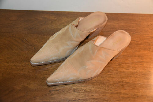 Vintage 90's Guess Shoes Women's Size 8M Mules Ta… - image 1