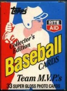 Rite-Aid-1988-Topps-Baseball-Team-MVP-039-s-Limited-Edition-Factory-Set-of-33-Cards